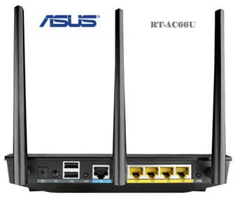 Asus RT-AC66U back panel