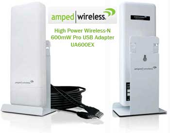 Amped high power adapter USB