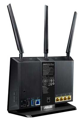 Asus DSL-AC68U ports