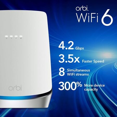 Orbi cbr750 ax4200 wifi-6 cable modem router