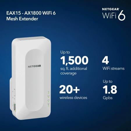 netgear eax15 ax1800 range extender